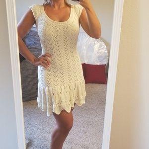 Victoria's Secret crotchet beige dress